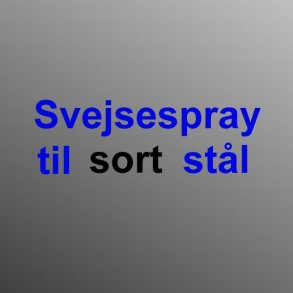 Svejsespray - sort stål